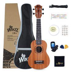 Ukeleles Winzz AU: Amazon.es: Instrumentos musicales Ukelele, Guitar, Music Instruments, Faces, Guitars, Musical Instruments