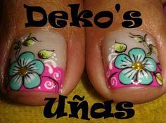 Cute Pedicures, Pedicure Nails, Mani Pedi, Diy Nails, Cute Pedicure Designs, Toe Nail Designs, Summer Toe Designs, French Pedicure, Feet Nails