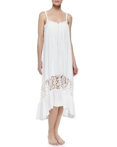 T9SSJ 6 Shore Road by Pooja Festival Lace-Hem Pleated Coverup