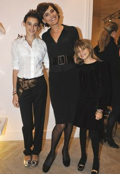 ines de la fressange daughter | Ines de la Fressange with her daughters, Violette and Nine.