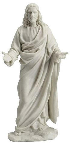 Jesus Christ Blessing Holy Figurine Religious Decoration Statue 12 Inch   Jesus Christ Blessing Sculpture (Marble White) Material  Cold Cast Resin ... e53aa2778
