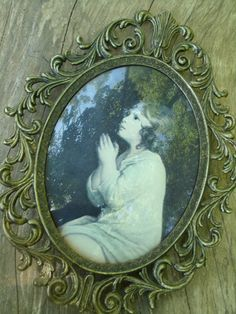 Vintage Photo Frame Kneeling in Prayer by TymelessTrinkets on Etsy, $22.00