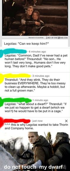 Some photos with Legolas, Gimli, and Boromir combined with some wonderful comments! LotR humor