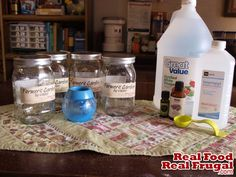 Lavender Peppermint Laundry Rinse - The Natural Home Challenge - Real Food Real Frugal