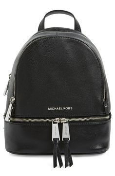 MICHAEL Michael Kors 'Extra Small Rhea' Leather Backpack