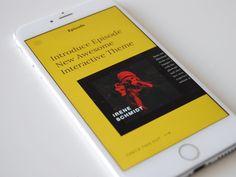 Episode Mobile designed by Yaroslav Samoilov. Mobile Ui Design, App Design, Best Mobile, Mobile App, Ui Ux, User Interface, Ipod, Digital, Mobile Applications
