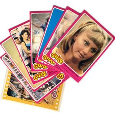 Grease trading cards that came in a bubble gum pack.  I collected these.