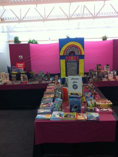Rock n Read Book Fair!!  Kids made me a great jukebox!