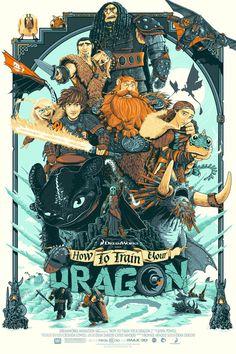 Les Sublimes Print de Dragons 2 par Patrick Connan pour la Hero Complex Gallery