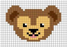 「ダッフィー」ビーズ図案アイデア 〜 アイロンビーズ デリカビーズ アクアビーズ、全アイテム作りたい!! Cross Stitch For Kids, Mini Cross Stitch, Cross Stitch Animals, Pixel Art, Diy Teddy Bear, Duffy The Disney Bear, Perler Bead Templates, Pixel Pattern, Crochet Diagram