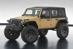 Jeep® Wrangler Sand Trooper II Concept Vehicle this may just be the only four door jeep i've seen that i like.