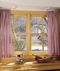 Cabin Check Tier Curtains