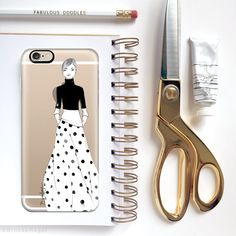 Casetify iPhone 7 Case and Other iPhone Covers - Lots of Dots by @Brooklit | #Casetify | Fashion Illustrator Brooke Hagel | www.Casetify.com/brooklit