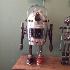 Robot Assemblage Sculpture
