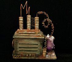 OOAK 1:12 Scale Dollhouse Miniature Spooky Laboratory Science Machine Equipment