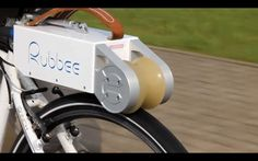 Bike, don't drive - it's much greener. Small, Portable Motor Lets You Transform Any Bicycle Into An Electric Bike Electric Bicycle, Electric Cars, Electric Bike Motor, Electric Vehicle, E Bike Motor, Scooter Moto, Velo Design, Velo Vintage, Bike Trailer