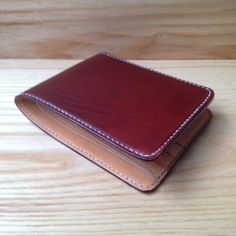 75b4adb09699 MILDY HANDS - SW01 - Short Wallet ( Japanese Shell Cordovan ) Burgundy /  Nature. Leather ...