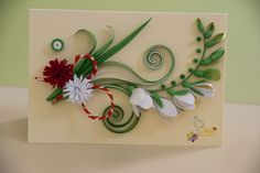Neli is a talented quilling artist from Bulgaria. Her unique quilling cards bring joy to people around the world. Neli Quilling, Quilling Cards, Paper Quilling, New Crafts, Diy And Crafts, Paper Crafts, Art Projects, Projects To Try, Paper Jewelry