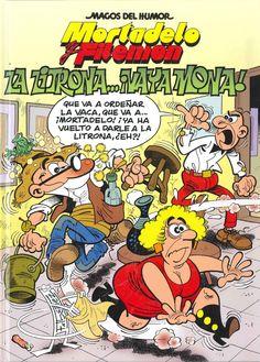 """La litrona...¡vaya mona! de F. Ibáñez. Publicado por Ediciones B, 2013. Dentro de la colección """"Mortadelo y Filemón. Magos del Humor"""" Magazines For Kids, Comic Art, Nostalgia, Pokemon, Animation, Cartoon, Humor, Children, Drawings"""