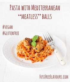 A delicious alternative to pasta with meat balls, the balls in this summery gluten free and vegan dish are made with chickpeas and flavoured with lemon, sundried tomato and fresh basil.