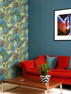 """Miami"" & ""Mosaic"" wallpaper. Geometric II."