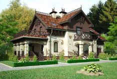 Home Garden Design in Cottage Design 04 - The Right at Home Designs Home Garden Design, Cottage Design, House Design, Style At Home, Rustic Houses Exterior, Fairytale Cottage, Backyard Patio Designs, Design Case, Cottage Homes