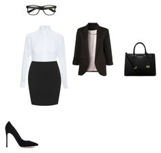 """work outfit"" by kelceejones on Polyvore featuring Givenchy, Gianvito Rossi and MICHAEL Michael Kors"