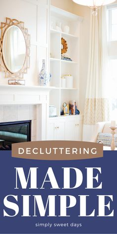 These 4 quick tips will help you stay on top of household clutter and give you a plan for a more organized and tidy home. Small Space Organization, Home Organization, Organizing, Living Area, Living Spaces, Sweet Days, Sweetest Day, Declutter Your Home, Tidy Up
