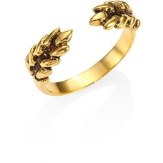 Aurelie Bidermann Two Cobs Wheat Ring ($115) ❤ liked on Polyvore featuring jewelry, rings, apparel & accessories, gold, band jewelry, aurélie bidermann, 18k jewelry, 18 karat gold ring and 18k ring