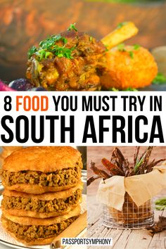 | 8 South African food you need to eat | Best South African food | Must have food while in South Africa | | South African food you must try | Food Travel, Travel Ideas, Travel Inspiration, Travel Tips, Morocco Travel, Africa Travel, Drink Bucket, California Food, Drinking Around The World