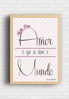 Poster Tudo por amor - Arrumadíssimo IK010