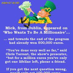 Funny Jokes To Make You LOL 👈🏻🍺😎😁👍 Hilarious Jokes & Humor - Clean Jokes, Dirty Jokes, Dad jokes & more. Funny Irish Jokes, Funny Long Jokes, Dad Jokes, Funny Signs, Funny Quotes, Hilarious Jokes, Irish Humor, Stupid Jokes, Cartoon Quotes