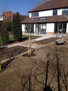 Lawn areas ready for turfing