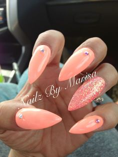 Acrylic stilettos nails