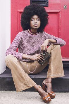 Natasha Ndlovu. London 2015. Afrodisiac editorial. Photographer: Anna Sandul Model & Stylist: Natasha Ndlovu