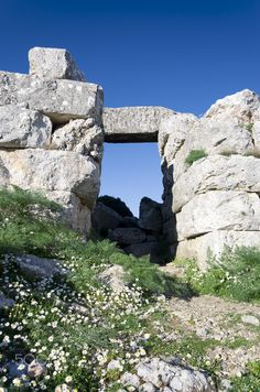 Ancient Fort Gate - Ancient fort in west side of mnt.Parnitha, Attica, Greece.