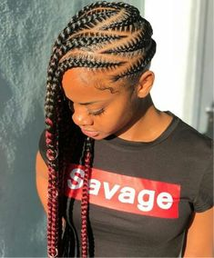 See more ideas about braided hairstyles natural hair styles and braids. Check out these box braid hairstyles for the best hair inspiration this season. 27 Sexy Lemonade Braids You Need To Try The Lemonade Braids Hairstyles, Feed In Braids Hairstyles, Cute Hairstyles For Teens, Cute Braided Hairstyles, Braided Hairstyles For Black Women, Teen Hairstyles, My Hairstyle, Trending Hairstyles, Black Hairstyles