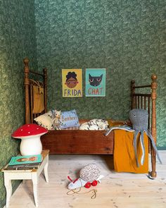 Not Your Usual Top 10 Kids' Room Trends for 2019 - Nursery Decor - Kids Room Design, Room Kids, Toddler Rooms, Metal Beds, Kid Spaces, Kid Beds, Vintage Children, Vintage Kids Rooms, Girls Bedroom