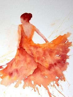 Orange Flamenco by Sue Bradley