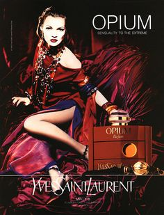 Yves Saint Laurent: Opium ad featuring Kate Moss, 1993