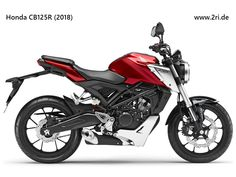 Fans of Honda's Euro-style Neo Sports Cafe concept and might enjoy the new announced today. A stylish little getabout with capabilities beyond the urban jungle, the new bike gets an LCD dash, LED lights and IMU-connected ABS brakes. Honda Cb125, Cafe Concept, Red Motorcycle, Indian Scout, New Honda, Honda Motorcycles, Street Bikes, Bike Design, Brazil