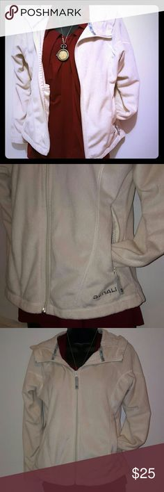 *Denali* Cream lightweight coat with hood 100% polyester super soft. Only worn a few time times Make an offer Jackets & Coats