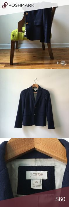 ✨NEW LISTING✨ Navy J.Crew Schoolboy Blazer Ultra preppy navy J.Crew Schoolboy jacket in wool. Perfect with literally everything. Great condition.   Don't like the price? 💸 Make me an offer with the button below! 👇🏻 J. Crew Jackets & Coats Blazers