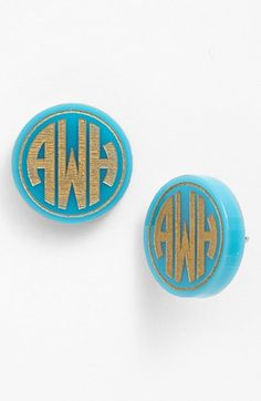 Moon and Lola 'Chelsea' Medium Personalized Monogram Stud Earrings (Nordstrom Exclusive) available at #Nordstrom
