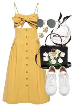 """Untitled #21517"" by florencia95 ❤ liked on Polyvore featuring Sea, New York, Balenciaga, Dolce&Gabbana, Loeffler Randall and Ray-Ban"