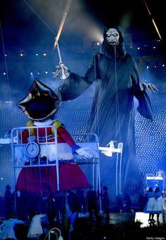 2012 Olympic opening ceremony, Voldemort arises