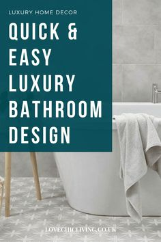 Quick and easy ways to create a luxury bathroom in your own home. Add hotel decor ideas to your bathroom for a luxury feel! Bathroom decor ideas for a luxury hotel feel in your family home. Changing Unit, Wall Cupboards, Bathroom Design Luxury, Hotel Decor, Guest Towels, Luxury Home Decor, Beautiful Space, Amazing Bathrooms, Home And Family