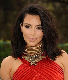 Kim Kardashian debuts her shorter hair at the Roc Nation, PUMA, and Three Six Zero Pre-Grammy Brunch. #kimkardashian