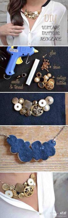 I have a ton of vintage buttons.... I should do this!