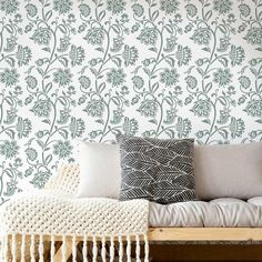 Jacobean Wall Stencil - Classic Stencils For Painting Walls and Furniture Wall Stencil Designs, Large Wall Stencil, Wall Stencil Patterns, Stencil Painting On Walls, Wall Stenciling, Faux Painting, Wallpaper Stencil, Damask Stencil, Stencil Diy